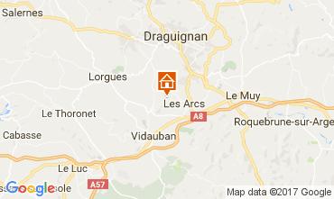 Karte Les Arcs-sur-Argens Ferienunterkunft auf dem Land 108268