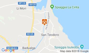 Karte San Teodoro Appartement 114624