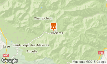 Karte Orcières Merlette Ferienunterkunft auf dem Land 81230