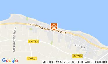 Karte Dénia Appartement 111027