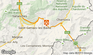 Karte Chamonix Mont-Blanc Chalet 17589