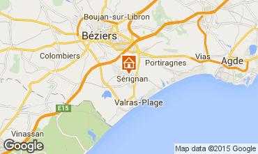 Karte S�rignan Plage Ferienunterkunft auf dem Land 68612