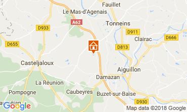 Karte Casteljaloux Ferienunterkunft auf dem Land 113847