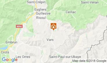 Karte Vars Chalet 58226