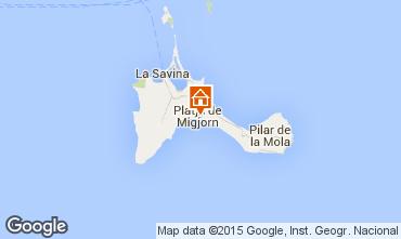 Karte Formentera Appartement 76917