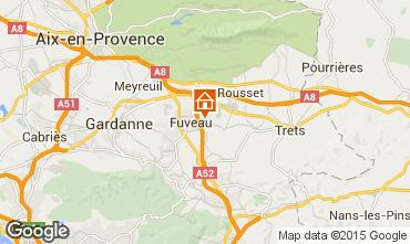 Karte Aix en Provence Ferienunterkunft auf dem Land 12242