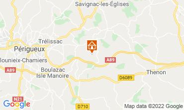 Karte Périgueux Ferienunterkunft auf dem Land 12391