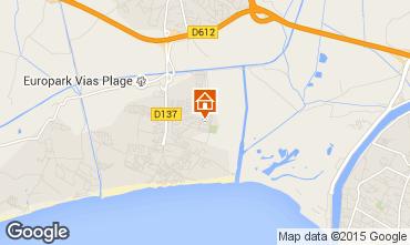 Karte Vias Plage Mobil-Home 68473
