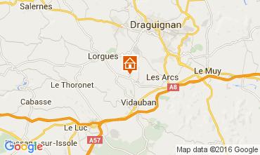 Karte Lorgues Ferienunterkunft auf dem Land 105361