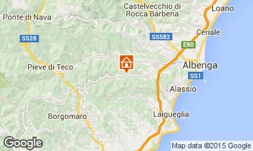 Karte Alassio Ferienunterkunft auf dem Land 70169