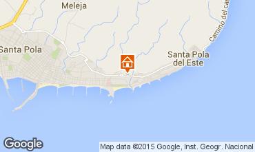 Karte Santa Pola Appartement 88298