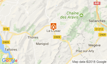 Karte La Clusaz Chalet 113553