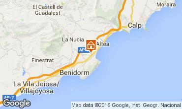 Karte Benidorm Villa 92946