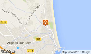 Karte Argeles sur Mer Appartement 28598