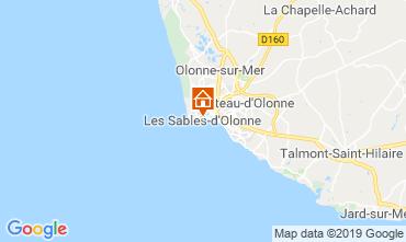 Karte Les  Sables d'Olonne Appartement 117838