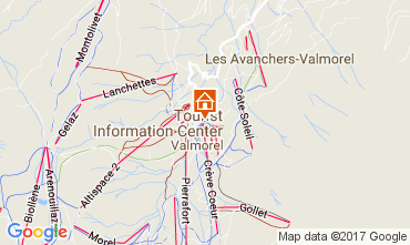 Karte Valmorel Appartement 111732