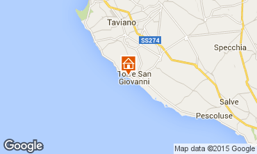 Karte Ugento - Torre San Giovanni Appartement 77791
