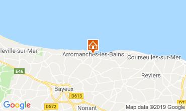 Karte Arromanches Ferienunterkunft auf dem Land 90681