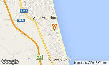 Karte Alba Adriatica Appartement 88815