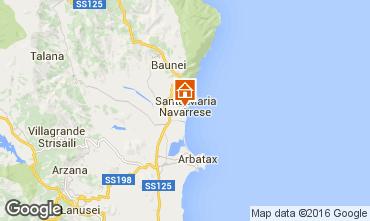 Karte Santa Maria Navarrese Appartement 40493