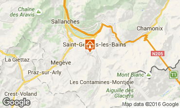 Karte Saint Gervais Mont-Blanc Chalet 80692