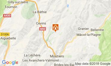 Karte La Léchère Appartement 114431