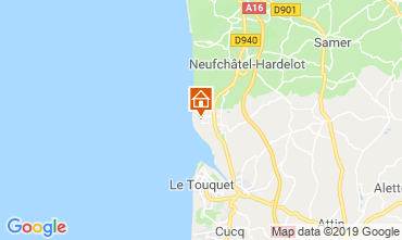Karte Le Touquet Ferienunterkunft auf dem Land 118198