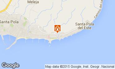 Karte Santa Pola Appartement 86373