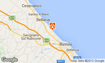 Karte Rimini Appartement 73189