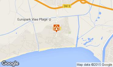 Karte Vias Plage Mobil-Home 95245