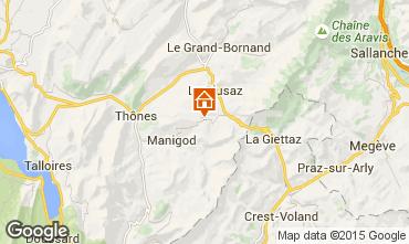 Karte La Clusaz Appartement 28042