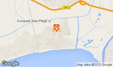 Karte Vias Plage Mobil-Home 90517