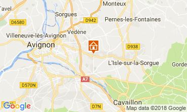 Karte Avignon Ferienunterkunft auf dem Land 80424