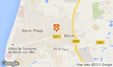 Karte Berck-Plage Appartement 86921