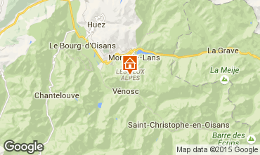 Karte Les 2 Alpes Studio 92167