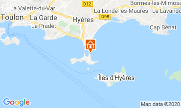 Karte Hyères Studio 5810