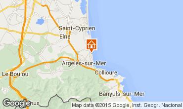 Karte Argeles sur Mer Appartement 69645