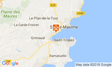 Karte Saint Tropez Haus 93909