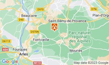 Karte Les Baux de Provence Ferienunterkunft auf dem Land 13098