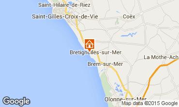Karte Bretignolles sur mer Appartement 94668