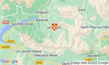 Karte Les Orres Chalet 65856