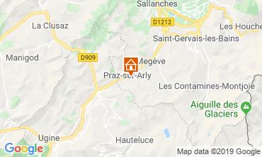 Karte Praz sur Arly Mobil-Home 91335