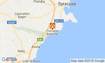 Karte Fontane Bianche Villa 115758