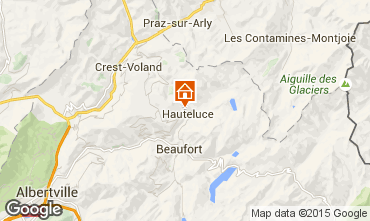 Karte Hauteluce Chalet 68480