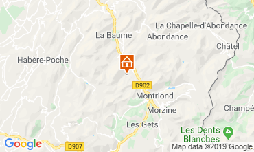 Karte Saint Jean d'Aulps- La Grande Terche Appartement 57389