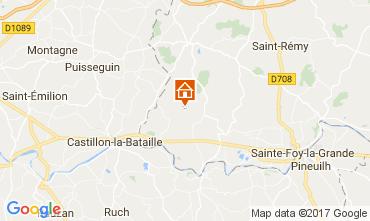 Karte Bergerac Ferienunterkunft auf dem Land 111984