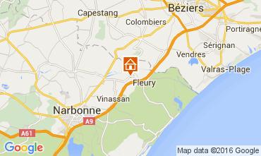 Karte Narbonne Haus 104424