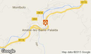 Karte Amélie-Les-Bains Studio 98778