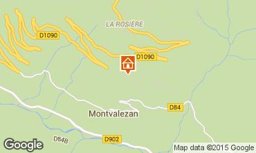 Karte La Rosière 1850 Appartement 82857