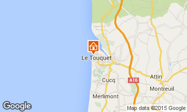 Karte Le Touquet Studio 38630